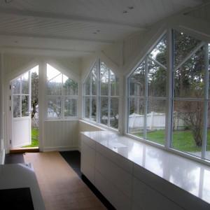 Kjøkkentilbygg fra innsiden